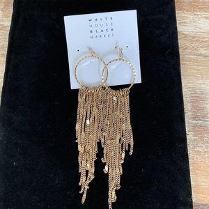 NWT Fringe Goldtone Earrings